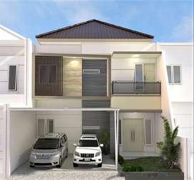 Jual rumah baru minimalis di Ketintang Surabaya