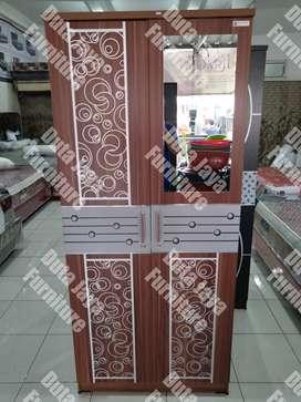 Lemari Baju 2Pintu Coklat Alya LPC-1102 Super 80.7x43.5x183 cm