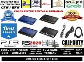 500 GB New Ps3 Super Slim Limited Edition Segel Void + Siap Main