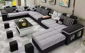 Black and gray sofa set complete set