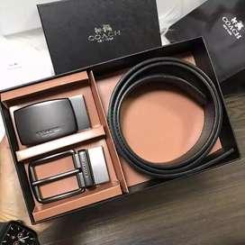 BNIB Coach Belt gift set,dapet dr lelang an