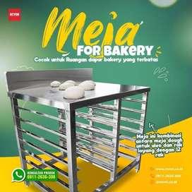 meja stainless steel for bakery | untuk adonan kue, roti & donat jogja