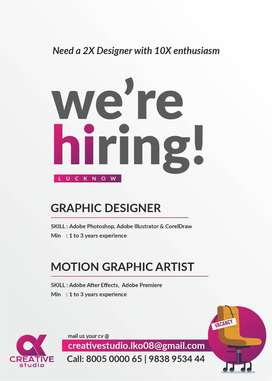 Hiring for Graphic Designer