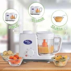 Baby Safe Food Maker Pengukus makanan bayi+blender,GARANSI RESMI 1 THN