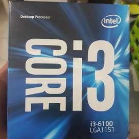 Paket mobo z170 prosesor i3 6100 fullset normal