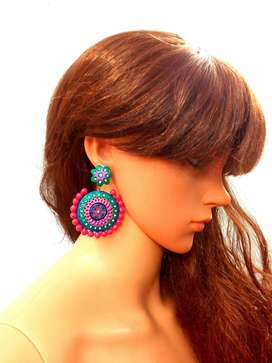 outstanding Terracotta Flower Earrings Jhumkas are formed from nature