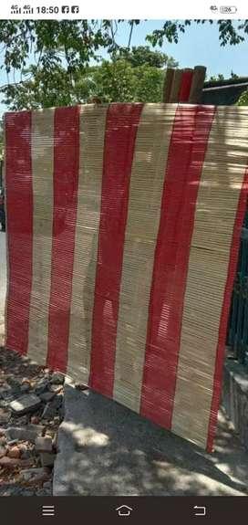 Jual tirai kulit bambu dan isi bambu dll