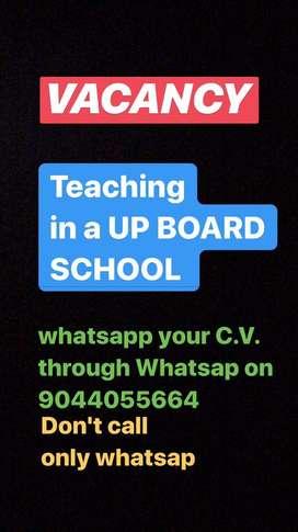 Primary teachers for a UP board English medium school