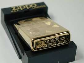 Rare Zippo Gold Plated Double Sided Made In Niagara Falls Canada