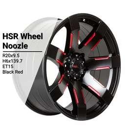 Velg mobil racing ring20 HSRwheel PCD 6×139,7 untuk Pajero Fortuner