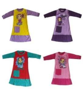 Gamis anak perempuan bahan kaos cotton