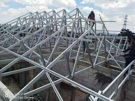 Kontruksi baja ringan yang mantap dan berkualitas untuk rangka atap