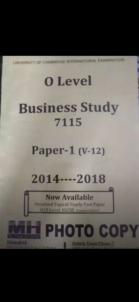 Business Past Papers