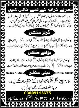 flat rooms for rent in Abbottabad