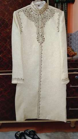 Majestic Gold Groom Sherwani | Groom Dress Men