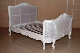 Set kamar tidur atau depan, kayu jati kombinasi rotan, free ongkir