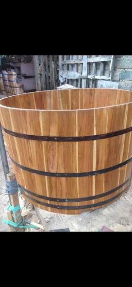 Hot tub kayu jati jawa