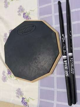 Drum Pad Hitam 29cm