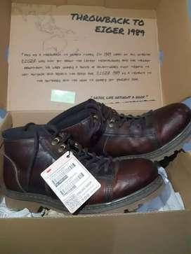 Sepatu Eiger 1989 (Kulit Asli) Brown