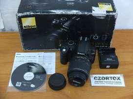 Nikon D3000 Lensa kit 18-55m Mulus