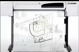 PRINTER PLOTTER HP DESIGNJET 500plus 42-in SIAP PAKAI