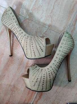 Gold Embellished Heels