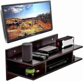 ANTIQUE MART TV Setup Box Wooden Wall Shelf
