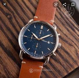 Refurbished elegant fossil leather watch CASH ON DELIVERY negotiable