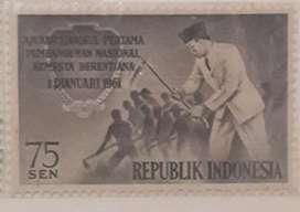 Perangko jadul 75sen Tahun 1961 Bp.Ir Soekarno koleksi antik lawas