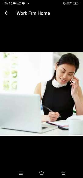 Work from home from laptop Android or pc