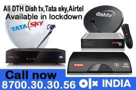 Dishtv Tatasky Airteltv : Airtel tv Tata sky Dish tv New HD connection