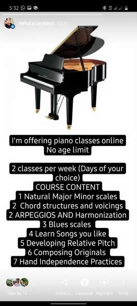 Online Piano/Keyboard Classes