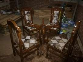 Dining table set 4 chers