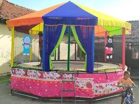 trampoline kereta motor komedi animal odong