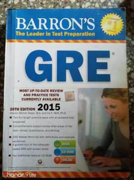 GRE Manhattan 5lb practice book with scratch code, ETS guide, Barrons