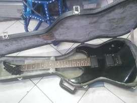 Gitar aria pro ii jepang solit Plus hardcase tua nya