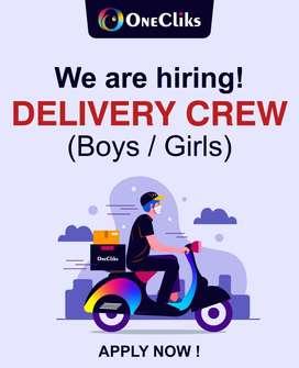 Delivery Crew Needed (Boys / Girls)