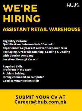 Assistant Retail Warehouse