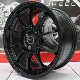 Velg Mobil Jazz Rs R15 pcd 4x100 warna hitam