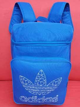 Tas import eks ADIDAS backpack biru kanvas roomy