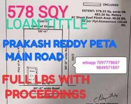 578 LRS FULL WITH PROCEEDINGS Prakashreddy peta MAIN ROAD HANAMKONDA