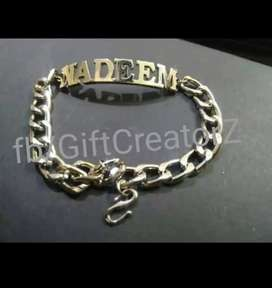 Bracelets for Gents Available now. Engraved krwayn naam for lifetime