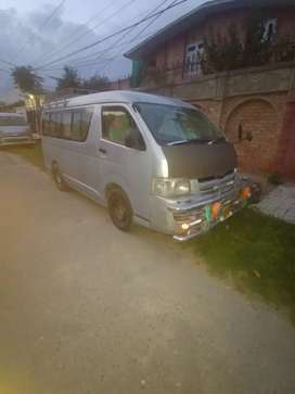 Toyota hiace 214 2009 model 2013 registered islamabad number