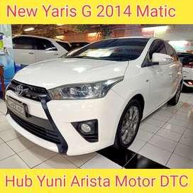 New Yaris G 1.5 2014 Matic PLAT SBY Pajak Hidup Terawat Siap Pakai