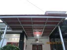 @21 canopy minimalis rangka tunggal atapnya alderon pvc anti berisik