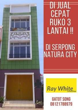 BUU!!! DIJUAL SANGAT CEPAT RUKO BAGUS 3 LANTAI di SERPONG natura city