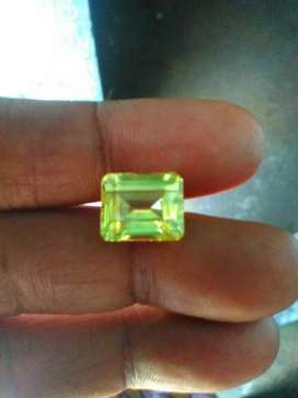 Certified Original Lemoni yellow Sapphire Gemstone