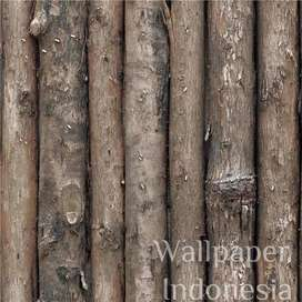 Wallpaper Dinding Murah - 5m2 - Kayu Coklat - De Cafe 503-2