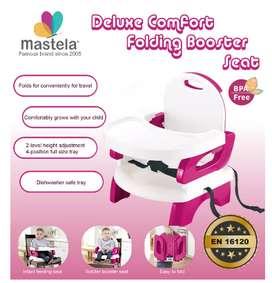 MASTELA Folding Booster Seat / Kursi Makan Bayi - RED FRAME - 07334