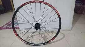 wheel set. shimano 26in, hub 9,10,speed, cakram